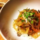 韓国風チャプチュエ丼