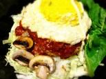 大豆とオートミールとお野菜たっぷりロコモコ丼