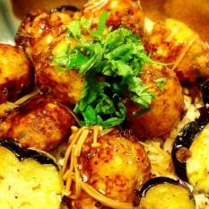 お野菜と豆腐とおからのつくね丼