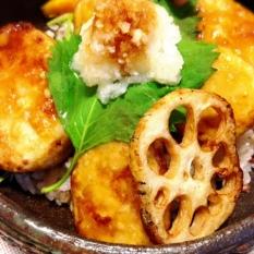 里芋の竜田揚げ丼