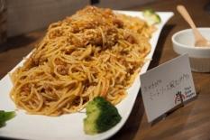 たかきびのミートソーススパゲッティ